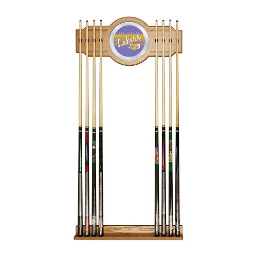 Los Angeles Lakers Hardwood Classics Billiard Cue Rack with Mirror