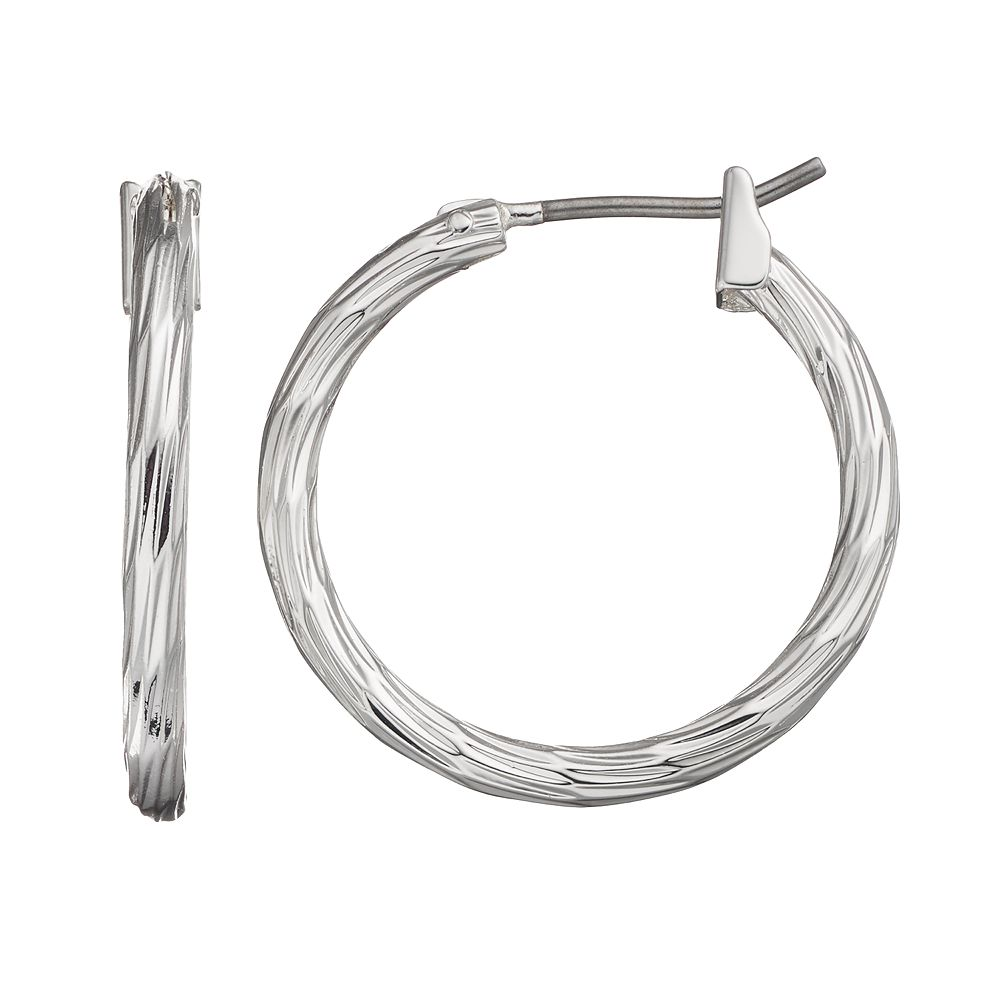 SONOMA Goods for Life® Textured Hoop Earrings