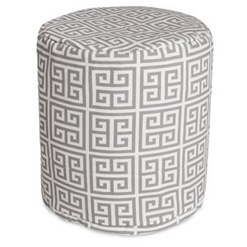 Majestic Home Goods Towers Indoor Outdoor Small Pouf Ottoman