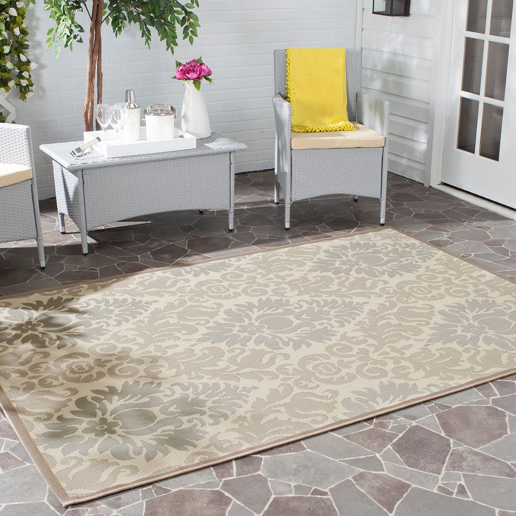 Safavieh Courtyard Leaves Print Indoor Outdoor Rug