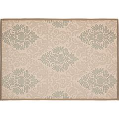 Safavieh Courtyard Leaves Print Indoor Outdoor Rug