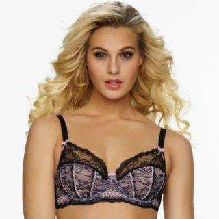 Jezebel Bra: Sylvia Unlined Lace Balconette Bra 10035 - Women's