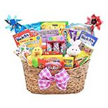 Alder Creek Easter Eggstravaganza Candy & Bunny Gift Basket Set