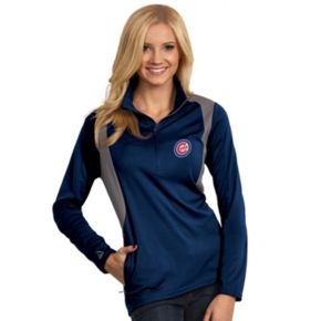 Women's Antigua Chicago Cubs Delta 1/4-Zip Pullover
