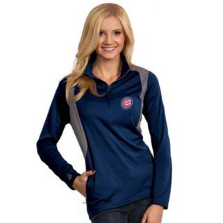 Women's Antigua Chicago Cubs Delta 1/4-Zip Pullover