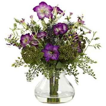 nearly natural Mixed Morning Glory Arrangement