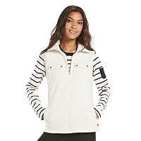 Women's Chaps Solid Full-Zip Polar Fleece Vest