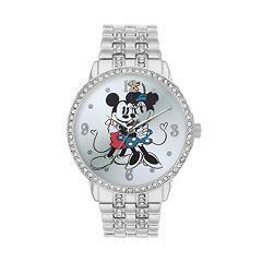 Disney's Mickey & Minnie Mouse Women's Cubic Zirconia Watch