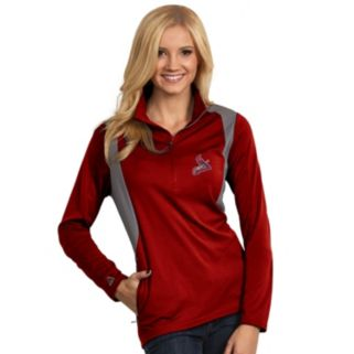 Women's Antigua St. Louis Cardinals Delta 1/4-Zip Pullover