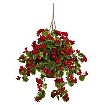 nearly natural Geranium Hanging Flowers
