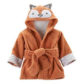 Baby Aspen Rub-a-Dub Fox Hooded Spa Robe - Baby Neutral