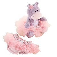 Baby Aspen Lady Lulu Plush & Tutu Bloomers Gift Set - Baby Girl
