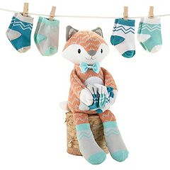 Baby Aspen 5 pc Mr. Fox Plush Gift Set - Baby Neutral