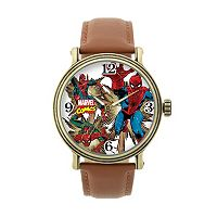 Marvel Spider-Man Leather Watch