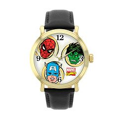 Marvel Spider-Man, The Incredible Hulk & Captain America Leather Watch