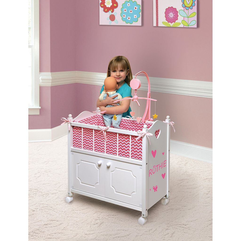 Badger Basket Chevron Wooden Doll Crib