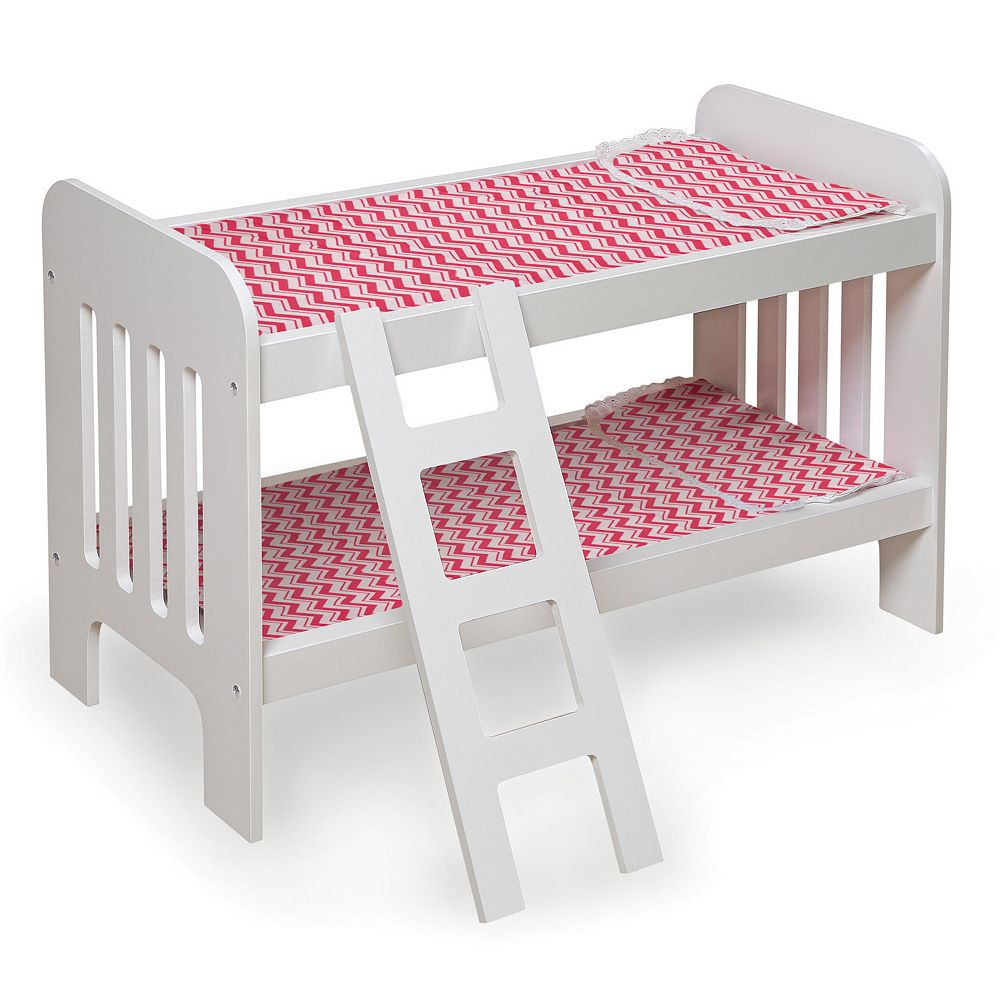 Badger Basket Chevron Wooden Doll Bunk Bed with Ladder