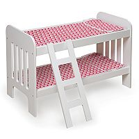Badger Basket Chevron Wooden Doll Bunk Bed with Ladder