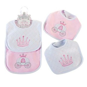 Baby Aspen 2-pk. Little Princess Crown & Carriage Bib Set - Baby Girl