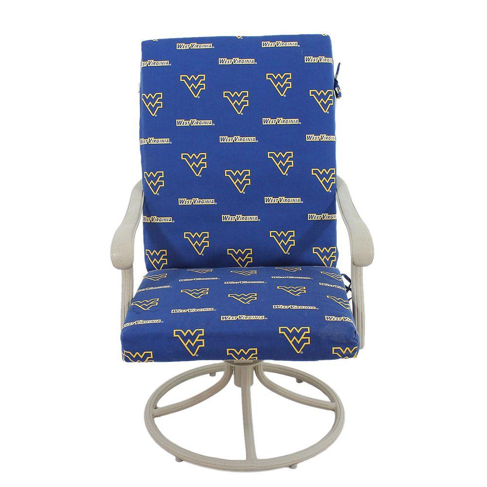 West Virginia Mountaineers 2-Piece Chair Cushion