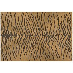 Safavieh Courtyard Zebra Indoor Outdoor Rug