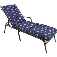 Auburn Tigers 3-Piece Chaise Lounge Chair Cushion