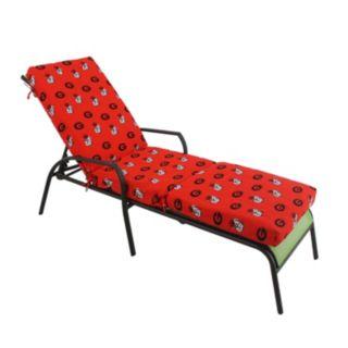 Georgia Bulldogs 3-Piece Chaise Lounge Chair Cushion