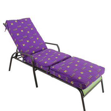 LSU Tigers 3-Piece Chaise Lounge Chair Cushion