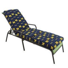 Michigan Wolverines 3-Piece Chaise Lounge Chair Cushion