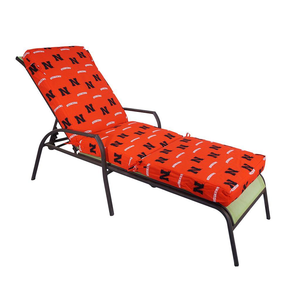 Nebraska Cornhuskers 3-Piece Chaise Lounge Chair Cushion