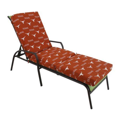 Texas Longhorns 3-Piece Chaise Lounge Chair Cushion