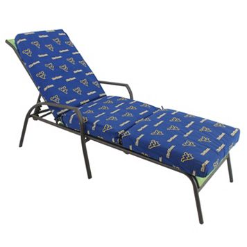 West Virginia Mountaineers 3-Piece Chaise Lounge Chair Cushion
