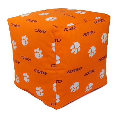 Clemson Tigers Cushion Cube Pouf