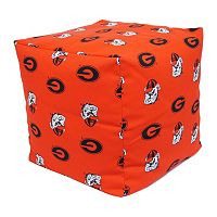 Georgia Bulldogs Cushion Cube Pouf