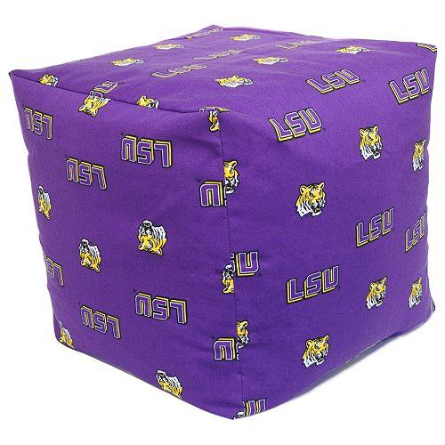 LSU Tigers Cushion Cube Pouf