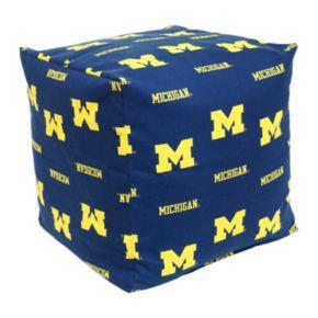 Michigan Wolverines Cushion Cube Pouf