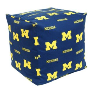 Michigan Wolverines Cushion Cube Pouf