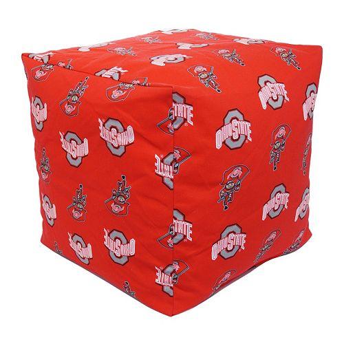 Ohio State Buckeyes Cushion Cube Pouf