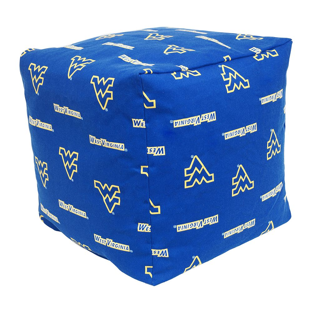 West Virginia Mountaineers Cushion Cube Pouf