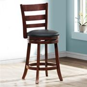 HomeVance Atalya 24 in Faux Leather Swivel Bar Stool