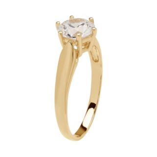 Emotions 10k Gold Cubic Zirconia Solitaire Ring
