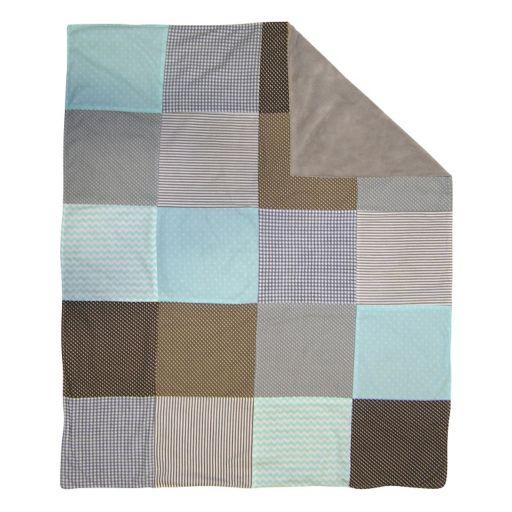 Trend Cocoa Mint Receiving Blanket