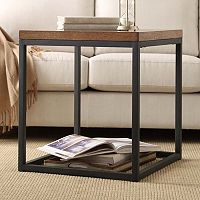 HomeVance Brynn Industrial Rustic End Table