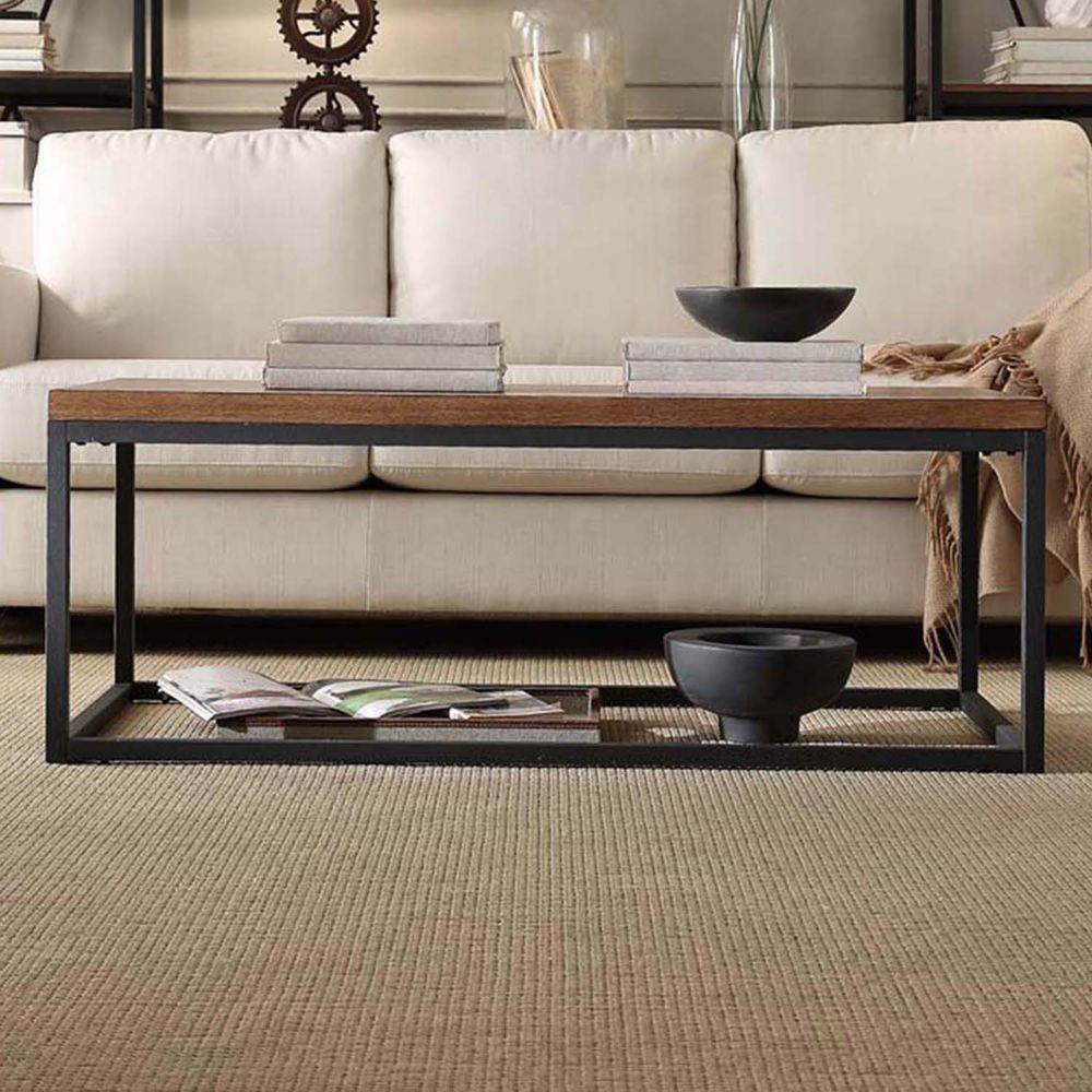 brynn industrial rustic coffee table