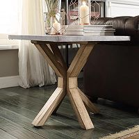 HomeVance Cassandra Driftwood End Table