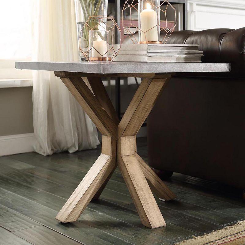 HomeVance Cassandra Driftwood End Table, Brown