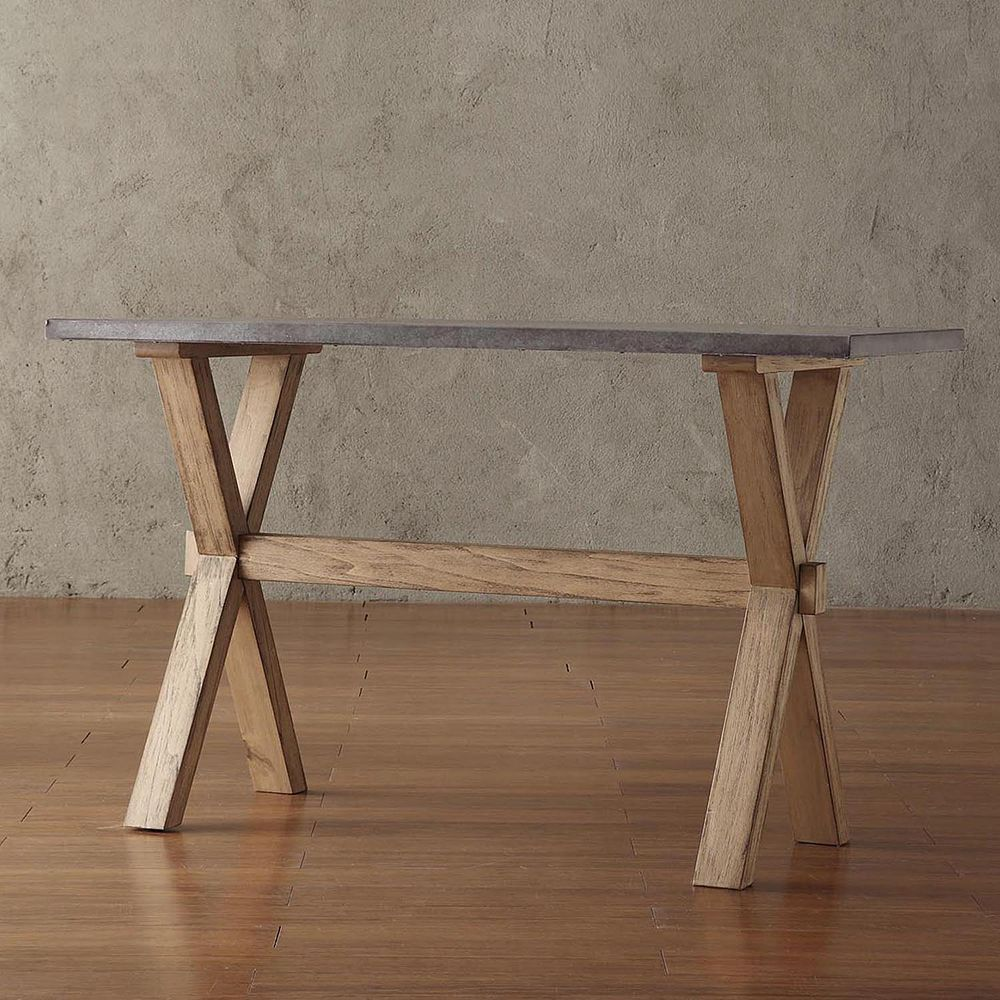 Cassandra driftwood console table homevance cassandra driftwood console table geotapseo Images