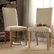 HomeVance 2-piece Dorchester Nailhead Driftwood Chair Set
