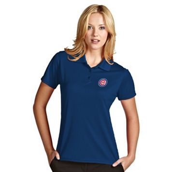 Women's Antigua Chicago Cubs Exceed Desert Dry Xtra-Lite Performance Polo
