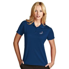 Women's Antigua Los Angeles Dodgers Exceed Desert Dry Xtra-Lite Performance Polo